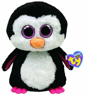 Ty Beanie Boos Buddies Paddles The Penguin Pink