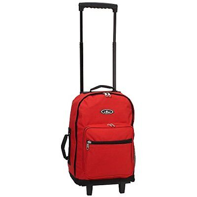 Everest Wheeled Backpack - Standard, Red, One Size