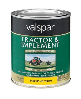 Valspar 4432-06 John Deere Yellow Tractor and Implement