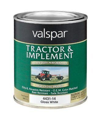 Valspar 4432-14 Gloss White Tractor and Implement Paint