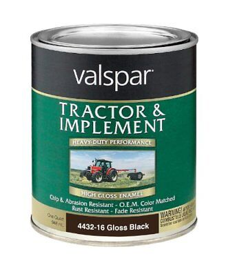 Valspar 4432-16 Gloss Black Tractor and Implement Paint
