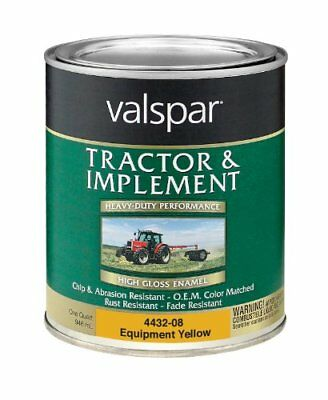 Valspar 4432-08 Equipment Yellow Tractor and Implement