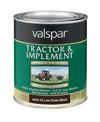 Valspar 4432-19 Low Gloss Black Tractor and Implement P