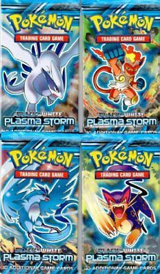 4 (Four) Packs of Pokemon Trading Card Game Black & Whi