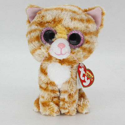 "Ty Beanie Boos 6"" Lovely Cat Stuffed Plush Toy Soft Animals Toy Baby Plush Dolls"