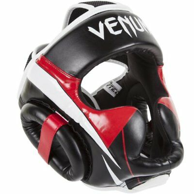 Venum Elite Headgear, Black/Red/Grey, One Size