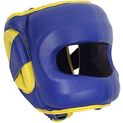 Ringside Deluxe Face Saver Boxing Headgear, Blue, Large