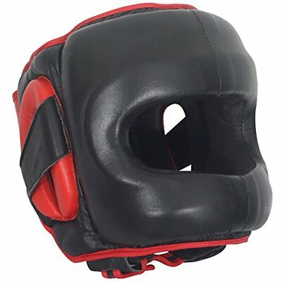 Ringside Deluxe Face Saver Boxing Headgear, Black, Smal