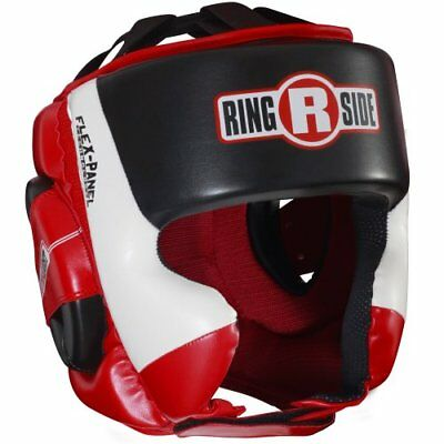 Ringside Ultra Light Sparring Headgear, Red/Black, Larg