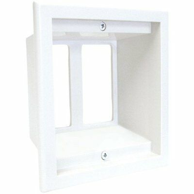 MIDLITE 2GPP-1W 2-Gang Recessed Box/Wall Plate Combo