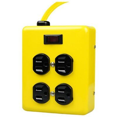 Yellow Jacket 2177N 4-Outlet Metal Power Block Adapter