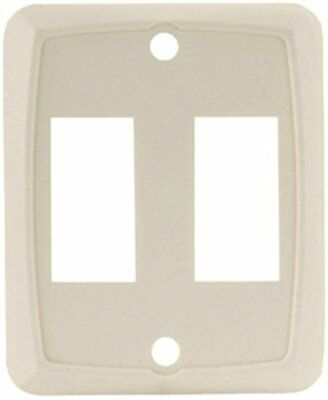 JR Products 12901-5 Ivory Double Switch Face Plate