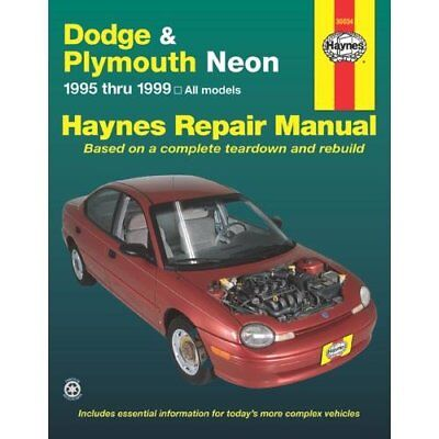 Dodge and Plymouth Neon: 1995 thru 1999 - Based on a co