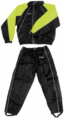 Frogg Toggs Hogg Togg Rainsuit , Color: Black/Lime, Siz