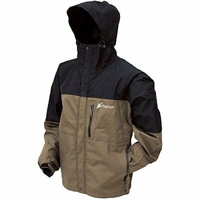 Frogg Toggs Toadz Rage Jacket, Black/Stone, Small