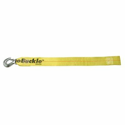 BoatBuckle Winch Strap with Loop End, Yellow, 2-Inch x