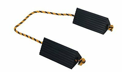 """Vestil AC-13 Rubber Wheel Airline Chock with Rope, 10"""""""