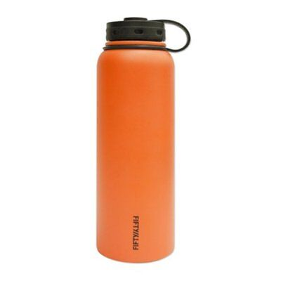 Lifeline 7502OR Orange Stainless Steel Wide Mouth Water