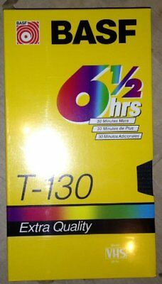 BASF T-130 6 1/2 Hour Extra Quality Blank VHS Tape (Vid