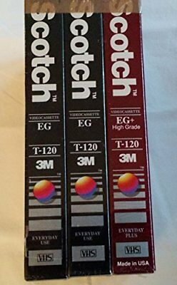 Scotch 3 VHS Value Pack with 2 High Standard and 1 Perf