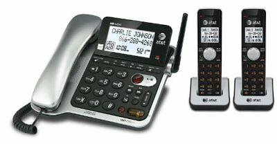 AT&T 2 Handset Corded/Cordless Answering System with Ca