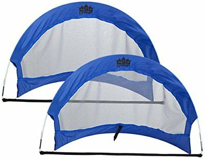 Crown Sporting Goods Pop Up Soccer Goals with 2 Carryin