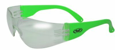 Global Vision Eyewear Rider Safety Glasses, Clear Lens,