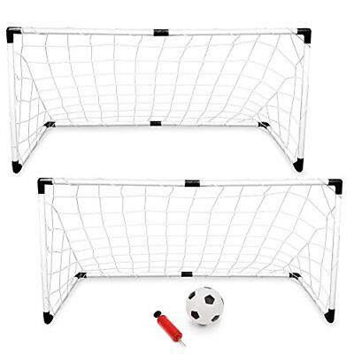 K-Roo Sports Youth Soccer Goals with Soccer Ball and Pu
