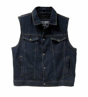 Mossi Men's Vest (Denim, Size 40)