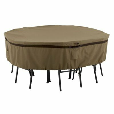 Classic Accessories Hickory Heavy Duty Round Patio Tabl