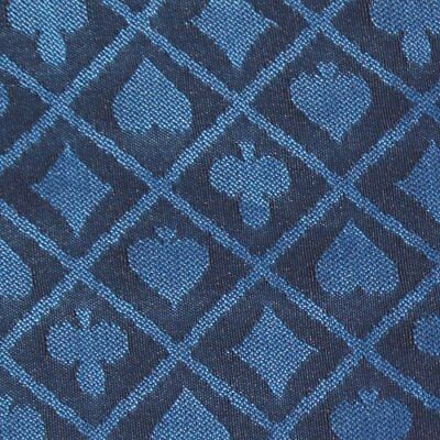 10' section of blue two-tone poker table speed cloth -