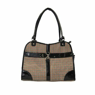 Anima Houndstooth Purse Carrier, 13.5-Inch by 6.5-Inch