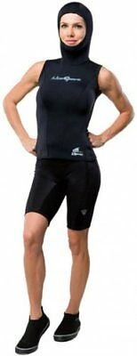 NeoSport Wetsuits Women's XSPAN 5/3mm Hooded Vest, Blac