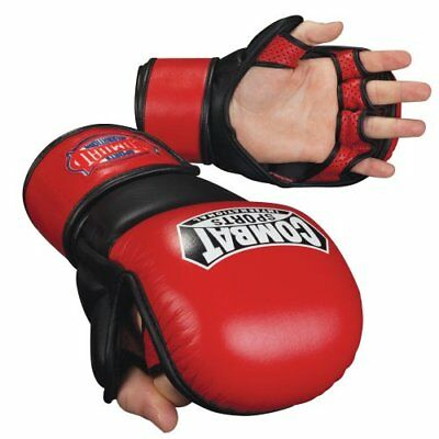 Combat Sports MMA Safety Sparring Gloves (Red-Black, X-