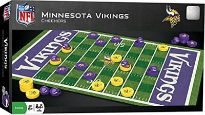 MasterPieces NFL Minnesota Vikings Checkers Board Game