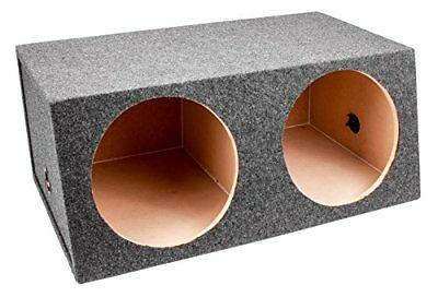 Q Power BASS12 Dual 12-Inch Sealed Angled Subwoofer Enc