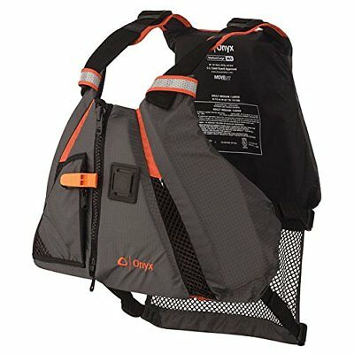 ONYX MoveVent Dynamic Paddle Sports Life Vest, Orange,