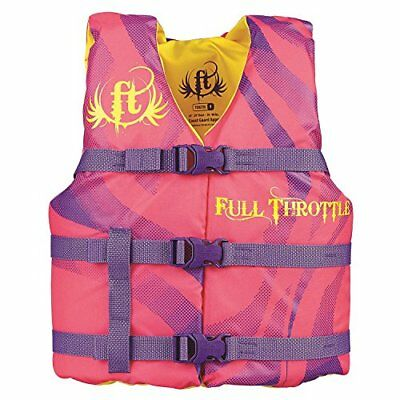 Full Throttle Youth Life Vest, Pink