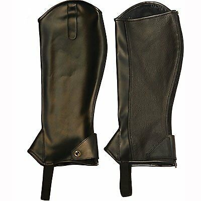 TuffRider Adult Micro Touch Half Chaps XL Black