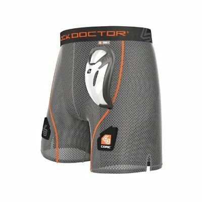 Shock Doctor Men's Core Loose Hockey Shorts with Bio-Fl