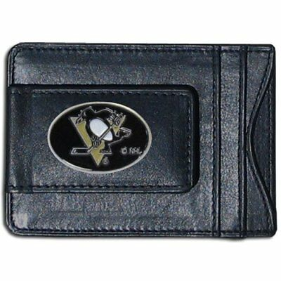 NHL Pittsburgh Penguins Genuine Leather Cash and Cardho