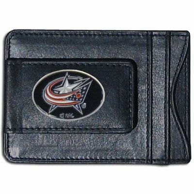 NHL Columbus Blue Jackets Genuine Leather Cash and Card