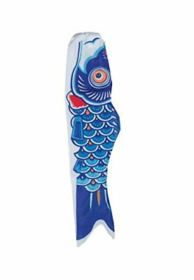 In the Breeze Koi Fish Windsock, 24-Inch, Blue