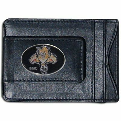 NHL Florida Panthers Genuine Leather Cash and Cardholde