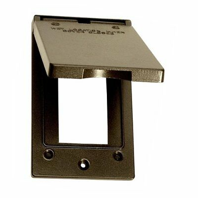 Sigma Electric 14248BR 1-Gang Vertical GFCI Cover, Bron