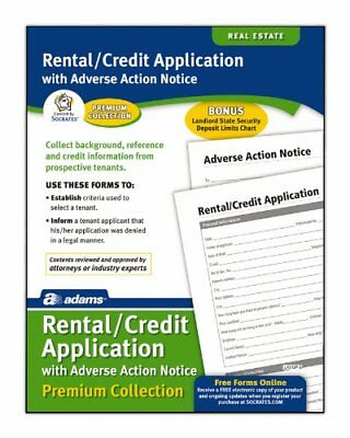 Adams Rental and Credit Application Forms Pack, 8.5 x 1