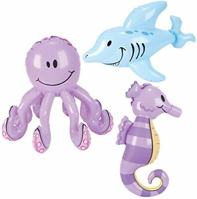 Inflatable Sea Creatures - Pool Party Decorations (1 dz