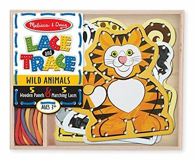 Melissa & Doug Lace & Trace: Wild Animals With 5 Wooden