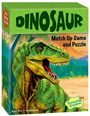 Peaceable Kingdom Dinosaur 24 Card Match Up Memory Game