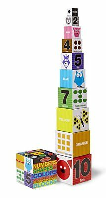 Melissa & Doug Nesting and Stacking Blocks: Numbers, Sh